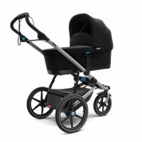 Thule Urban Glide 2 Silver Frame Iu01 Bassinet Installed