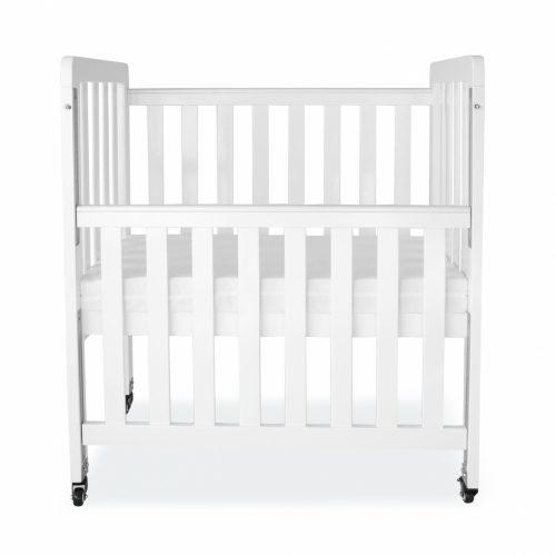 babyhood Mini Ergonomic Cot - White dropside down