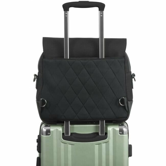 Nuna Daiper Bag Caviar On Luggage
