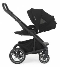Nuna Mixx2 caviar facing parent recline canopy extended GL