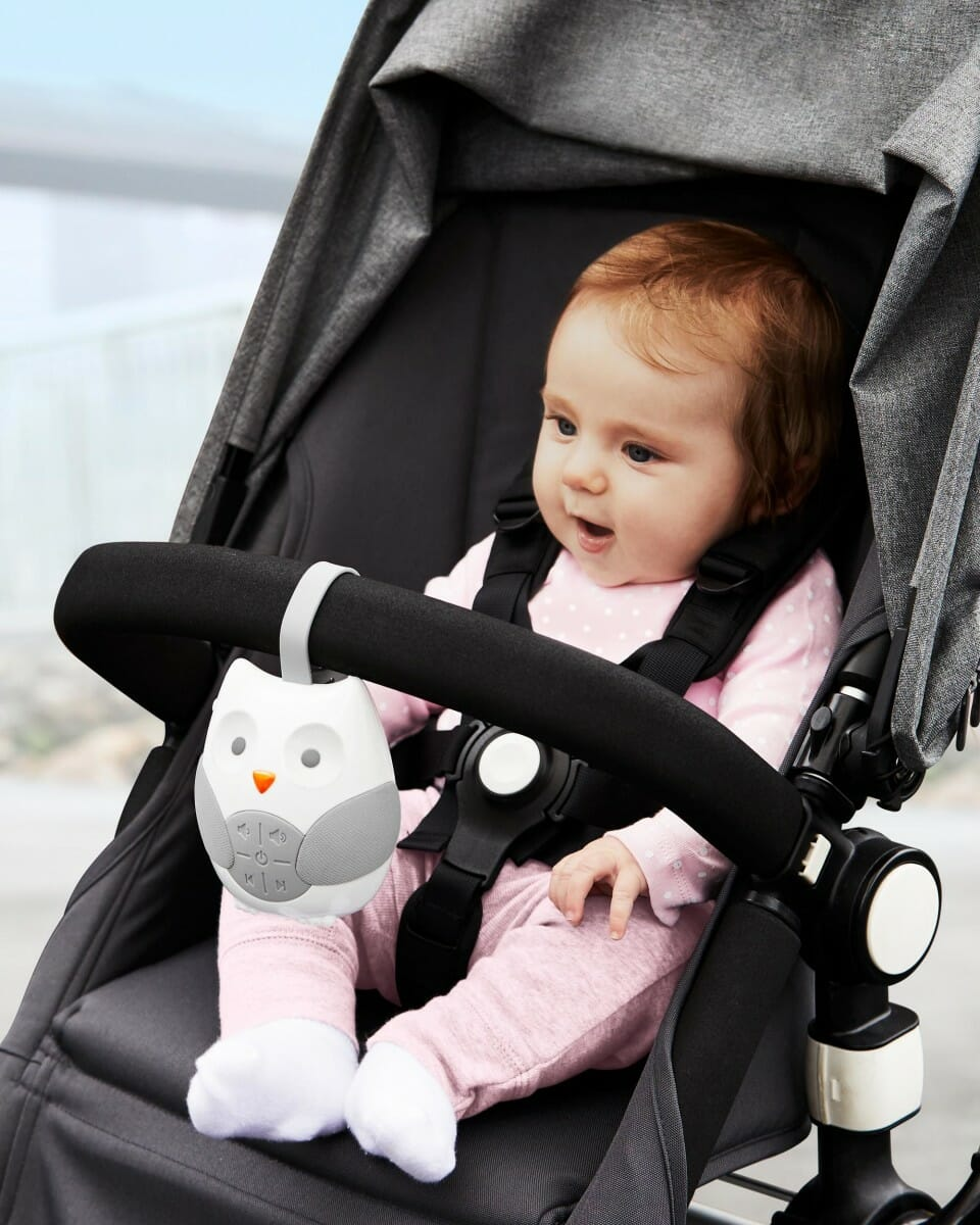 Skip Hop Stroll & Go Portable Baby Soother Baby in Pram