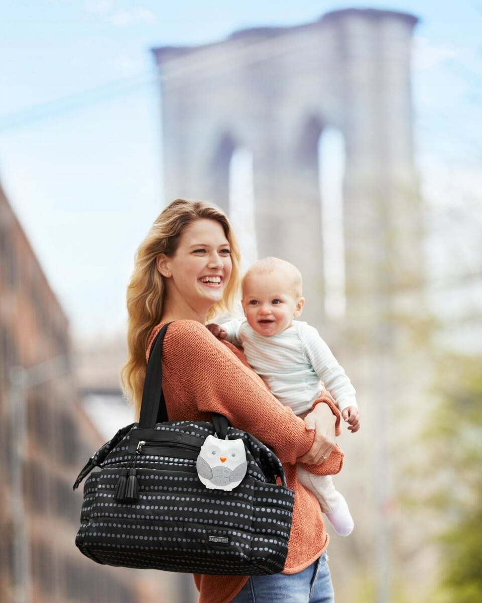 Skip Hop Stroll & Go Portable Baby Soother On Nappy Bag