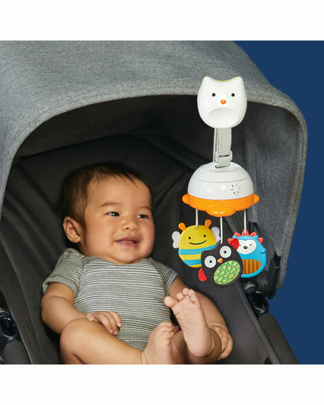 Skip Hop Explore & More 3 In 1 Travel Mobile on baby capsule