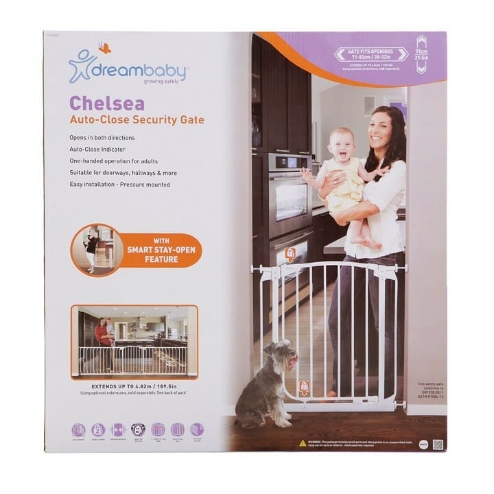 Dreambaby Chelsea Swing Auto-Close Security Gate Packaging