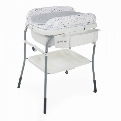 Chicco Cuddle & Bubble Comfort Baby Bath And Changing Table Cool Grey
