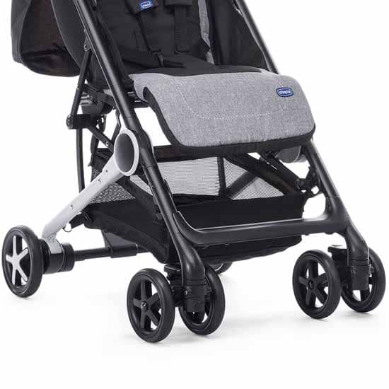 Chicco Miinimo Compact Travel Stroller Black Foot Rest And Basket