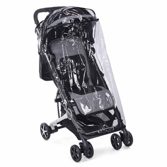 Chicco Miinimo Compact Travel Stroller Black Rain Cover
