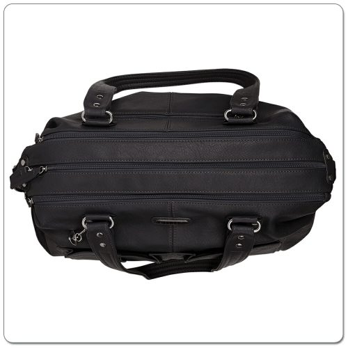 Vanchi Florence Traveler Nappy Bag Black (3)
