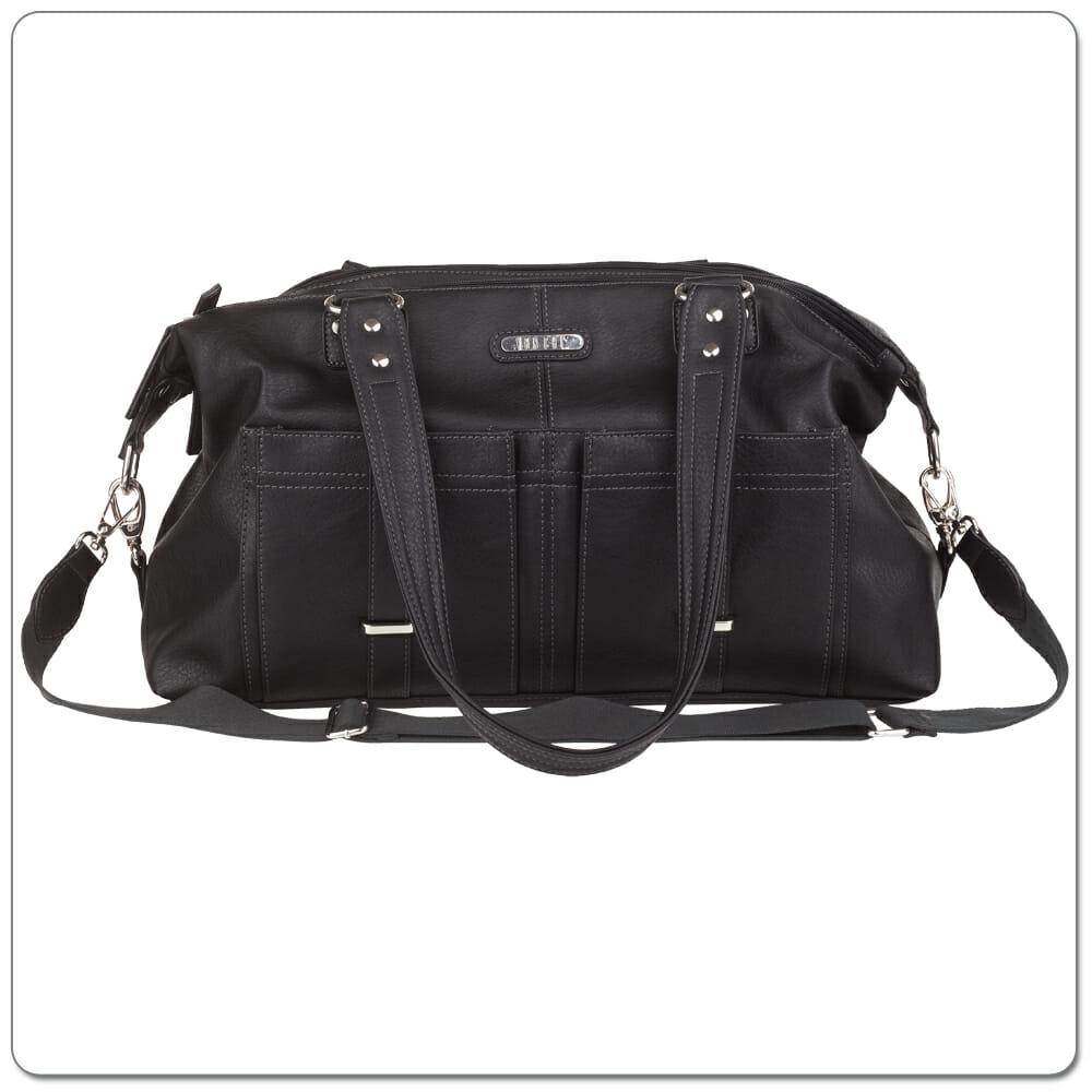 Vanchi Florence Traveler Nappy Bag Black Front
