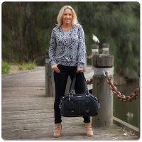 Vanchi Florence Traveler Nappy Bag Black Lifestyle 3