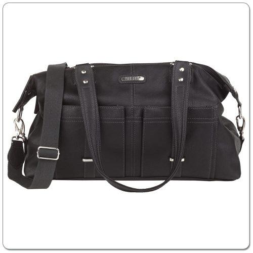 Vanchi Florence Traveler Nappy Bag Black Rear