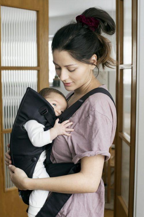 BabyBjorn Baby Carrier Mini Black, Cotton 1