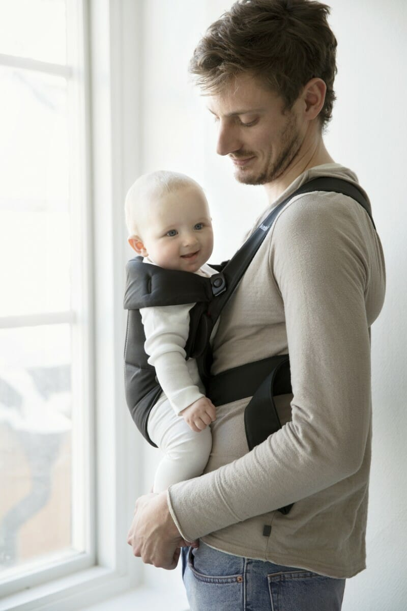 BabyBjorn Baby Carrier Mini Black, Cotton 2