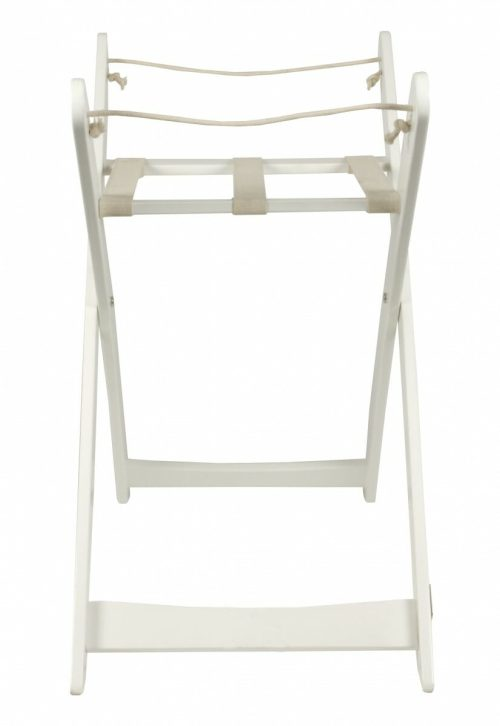 Bebe Care Moses Basket Stand White Side View