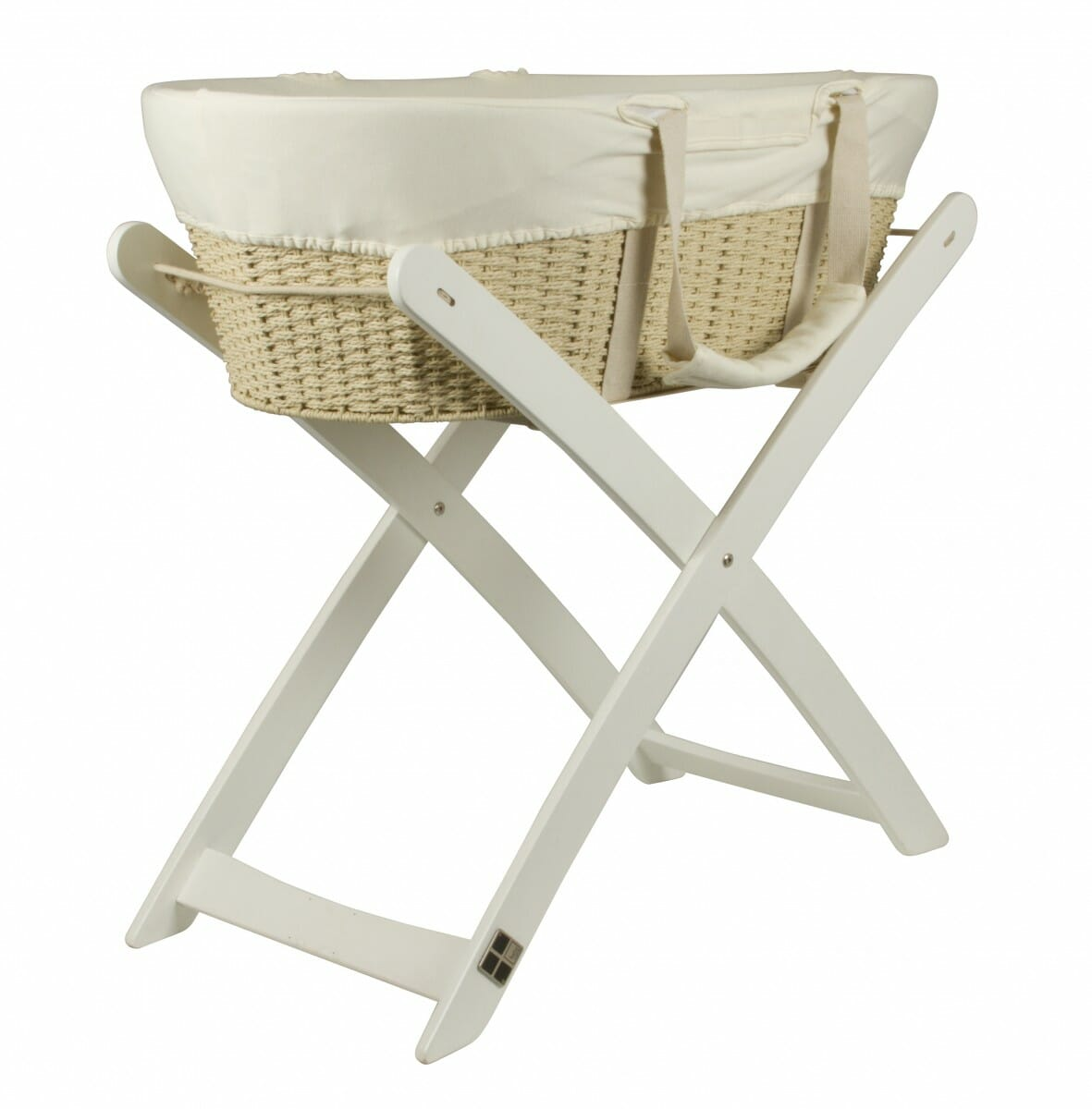 Bebe Care Moses Basket And Stand White
