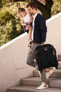 Cybex Eezy S Stroller Lavastone Black Lifestyle