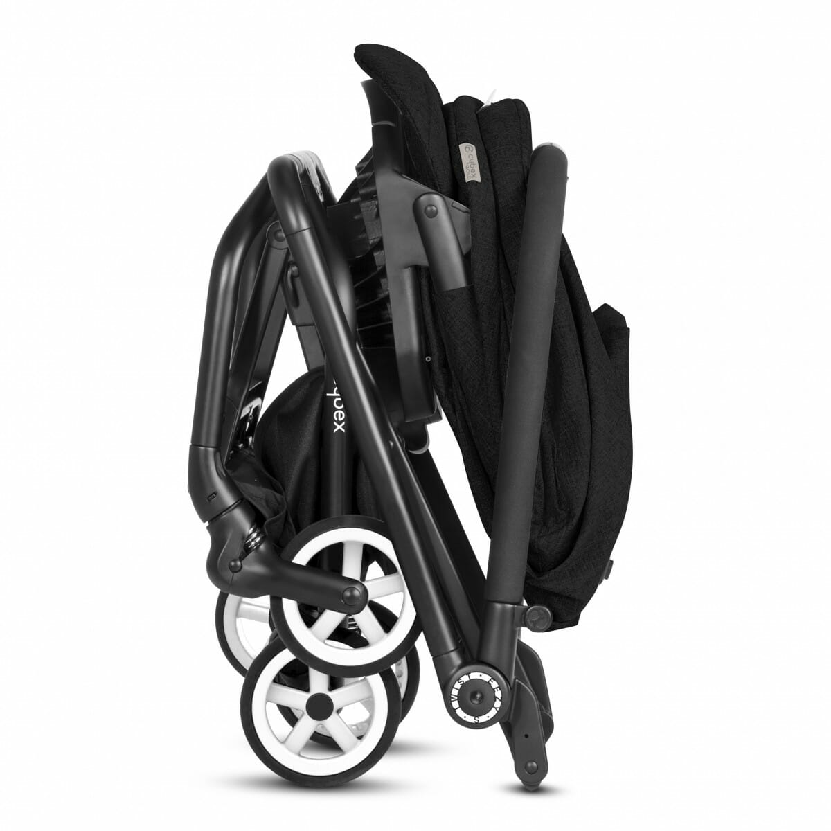 Cybex Eezy S Twist Stroller Lavastone Black Fold