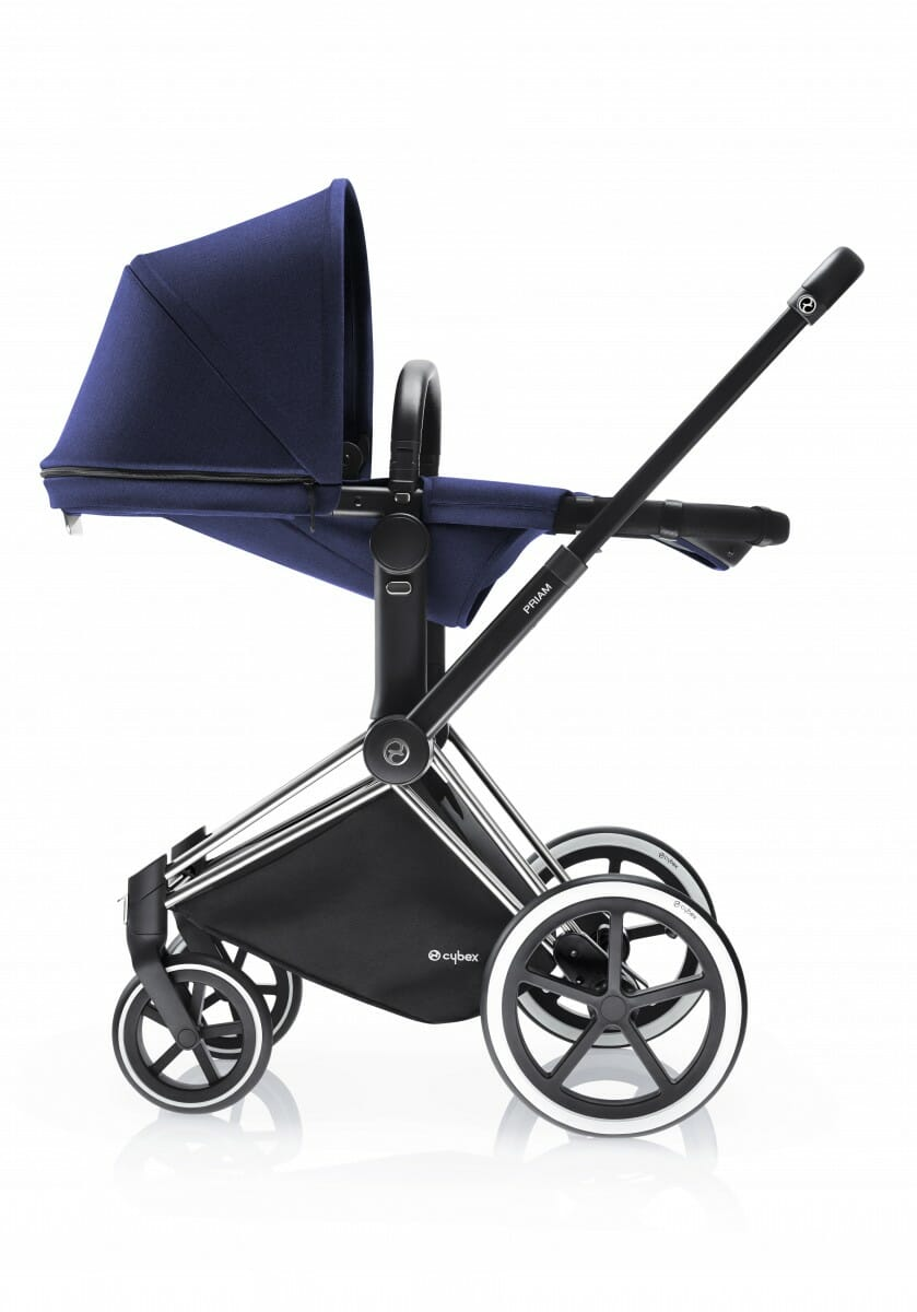 Cybex Priam 2 In 1 Light Seat Royal Blue Side Recline With Chrome Frame