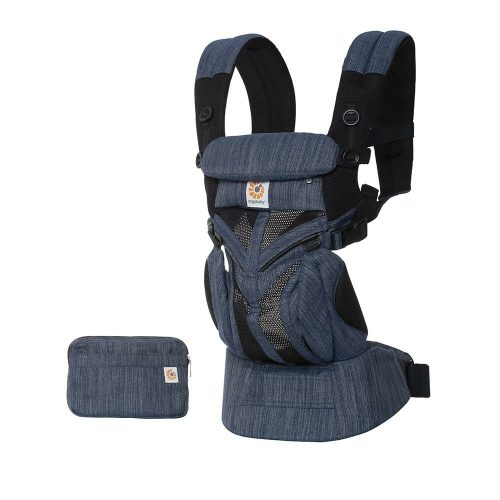 Ergobaby Omni 360 Baby Carrier Cool Air Mesh Indigo Weave