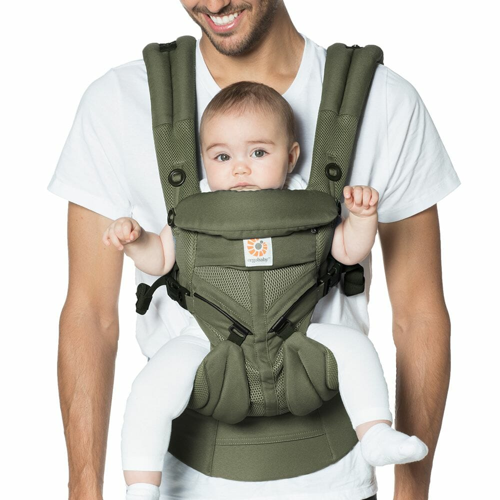 Omni 360 Baby Carrier Cool Air Mesh Khaki Green Lifestyle