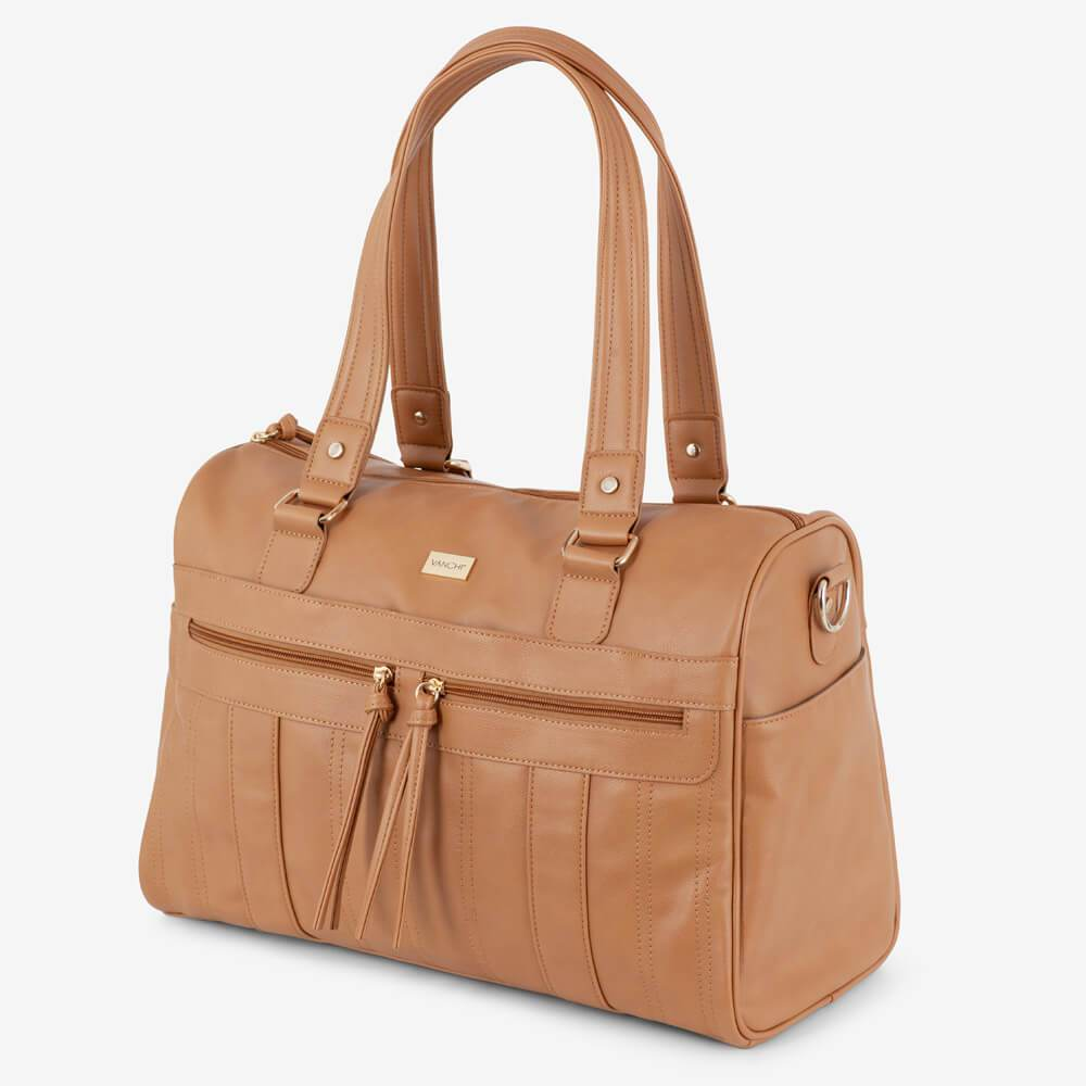 Vanchi Indie Holdall Angle Camel