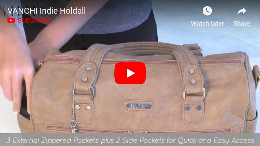 Vanchi Indie Holdall Nappy Bag Video