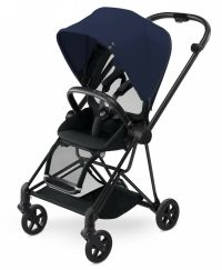 Cybex Mios Stroller (colour Pack) Midnight Blue (black Frame) Clipped