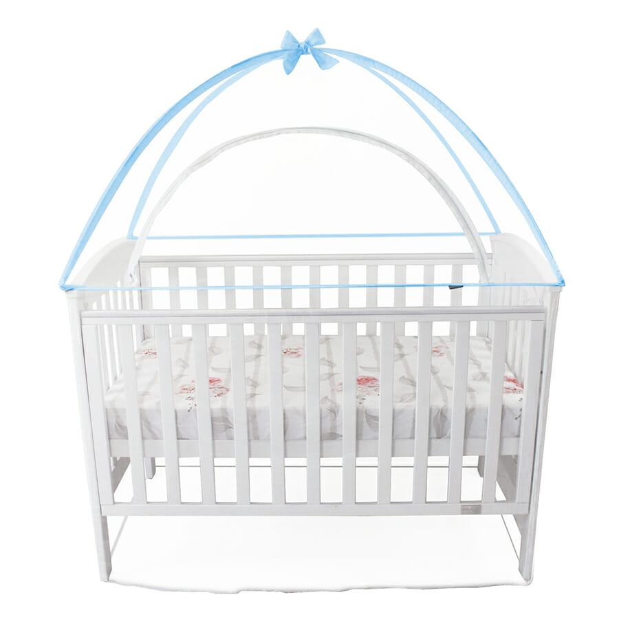 Babyhood Cot Canopy Net Blue