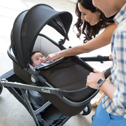 Joovy Qool Bassinet On Stroller Lifestyle