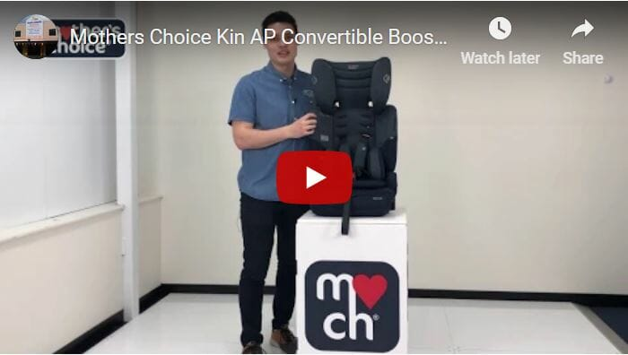 Mothers Choice Kin Convertible Booster Seat Video