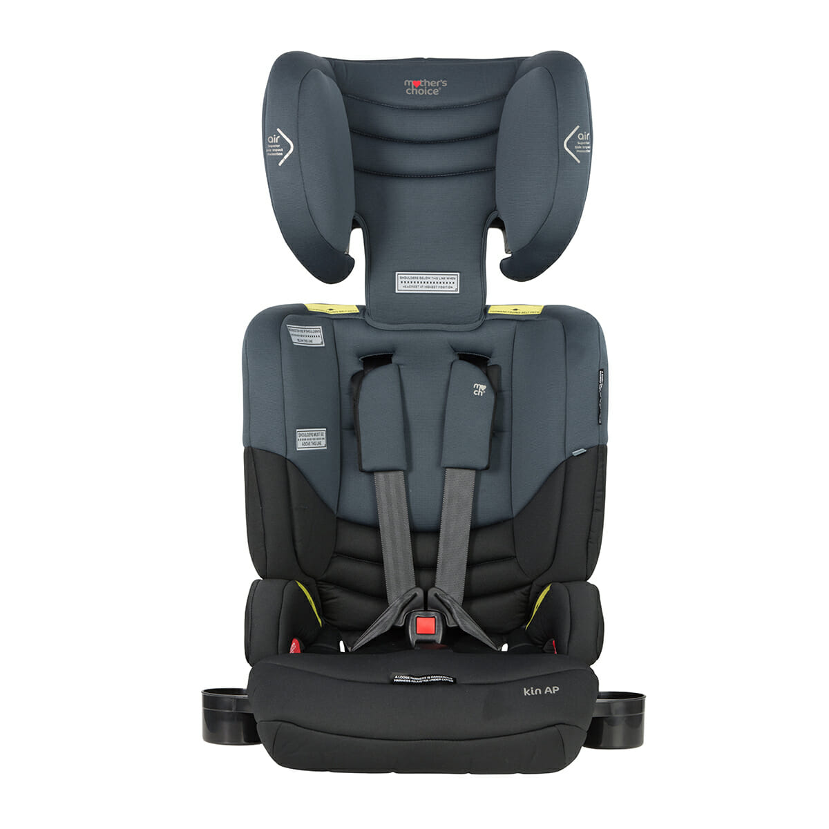 Mothers Choice Kin Titanium Grey Front Headrest