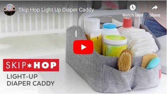 Skip Hop Light Up Diaper Caddy Video