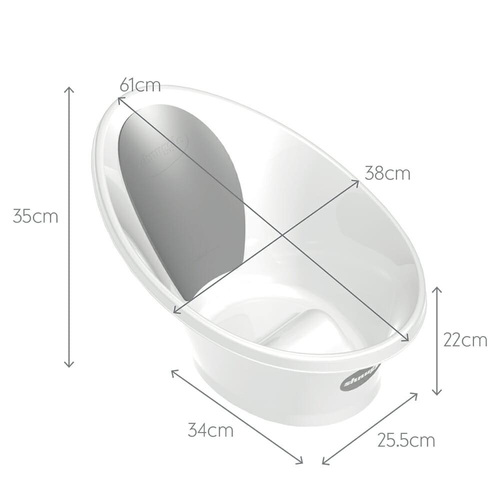 Shnuggle Bath Dimensions