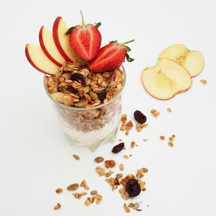 Golden Flax With Apple & Cranberry Breakfast