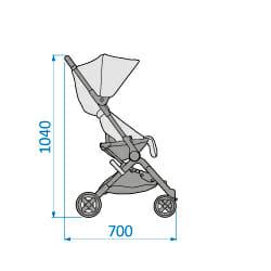 Mc1233 2018 Maxicosi Stroller Lara Externaldimensions 01