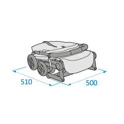Mc1233 2018 Maxicosi Stroller Lara Externaldimensions 03