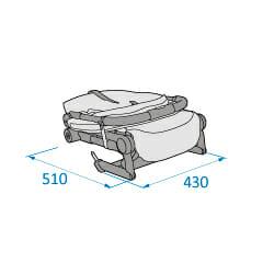Mc1233 2018 Maxicosi Stroller Lara Externaldimensions 05