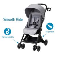 Lightweight Ultra Compact Stroller Nomad Grey Smooth Ride
