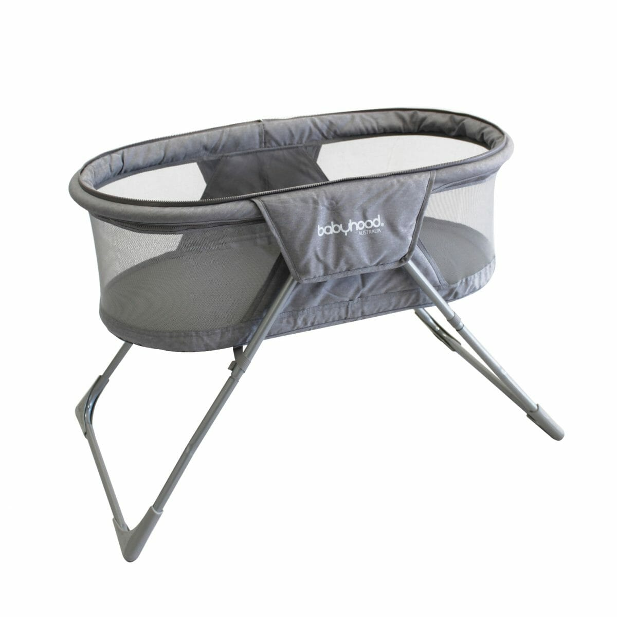 Babyhood Travel Bassinet Angle Shade Removed
