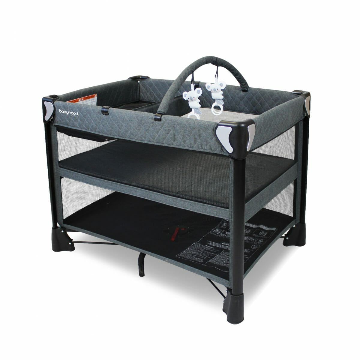 Babyhood Uno 4 In 1 Portacot Bassinet Level With Change Table And Toybar