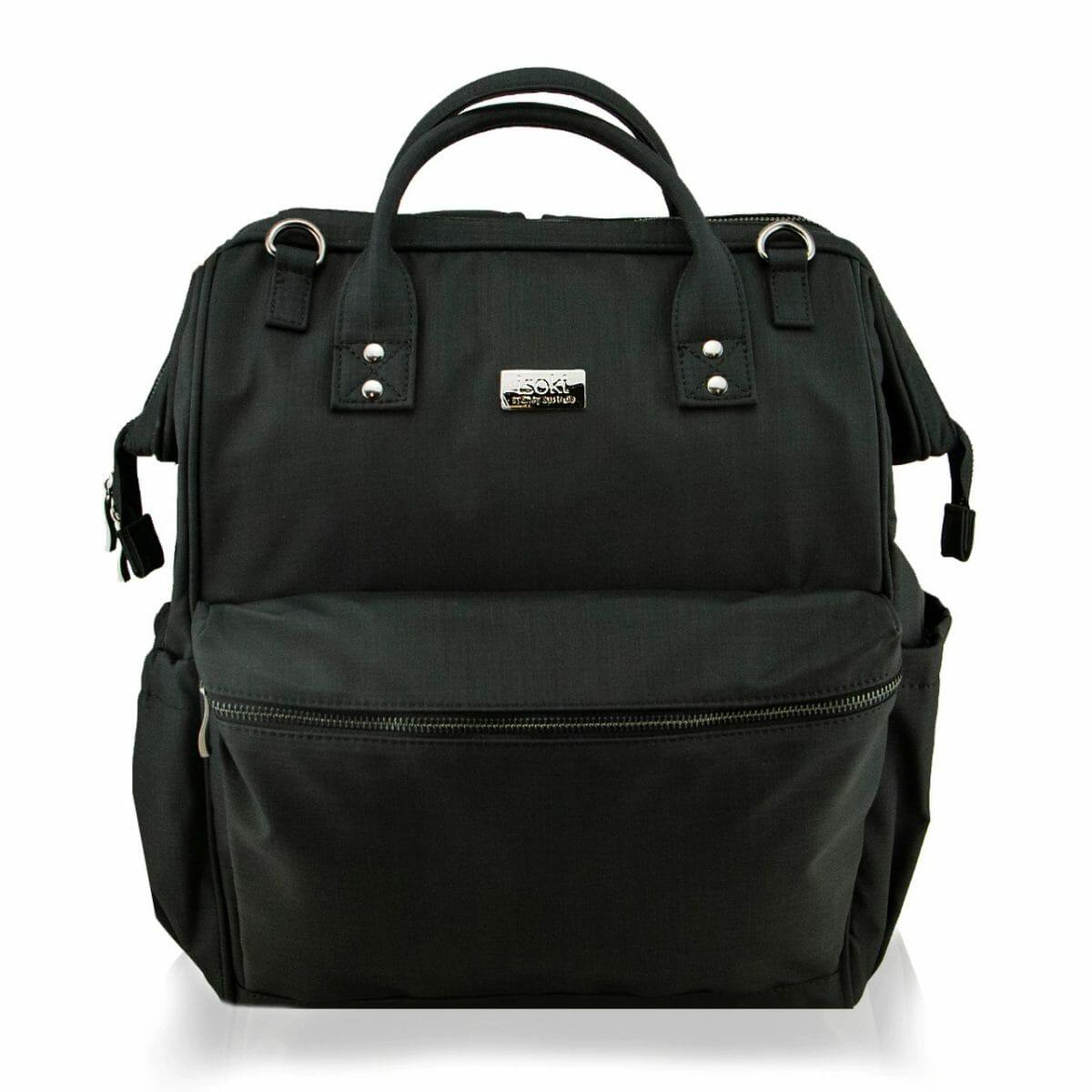 Isoki Byron Backpack Black Nylon Front