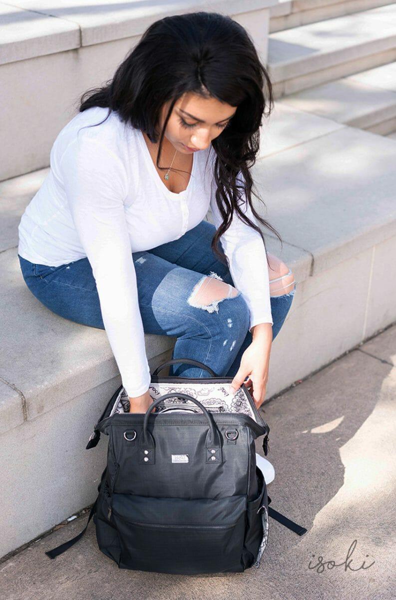 Isoki Byron Backpack Black Nylon Lifestyle 3
