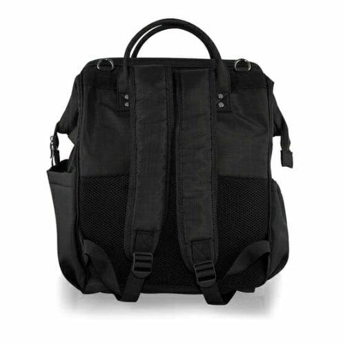 Isoki Byron Backpack Black Nylon Rear
