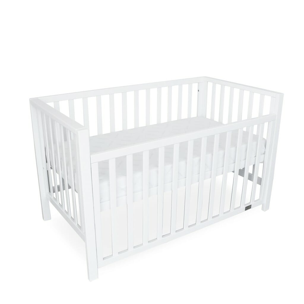 Lulu Cot White Bassinet Mode Dropside Down