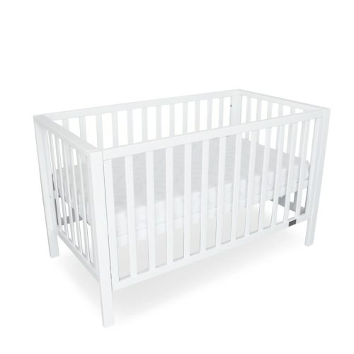 Lulu Cot White Bassinet Mode Dropside Up