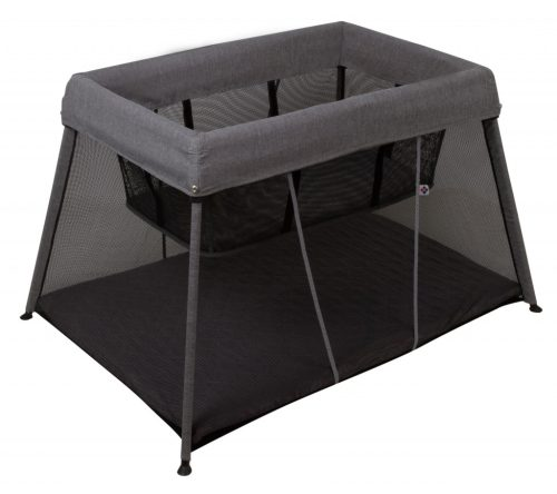 Bebe Care In & Out Travel Cot Black Silver (w Bassinet)