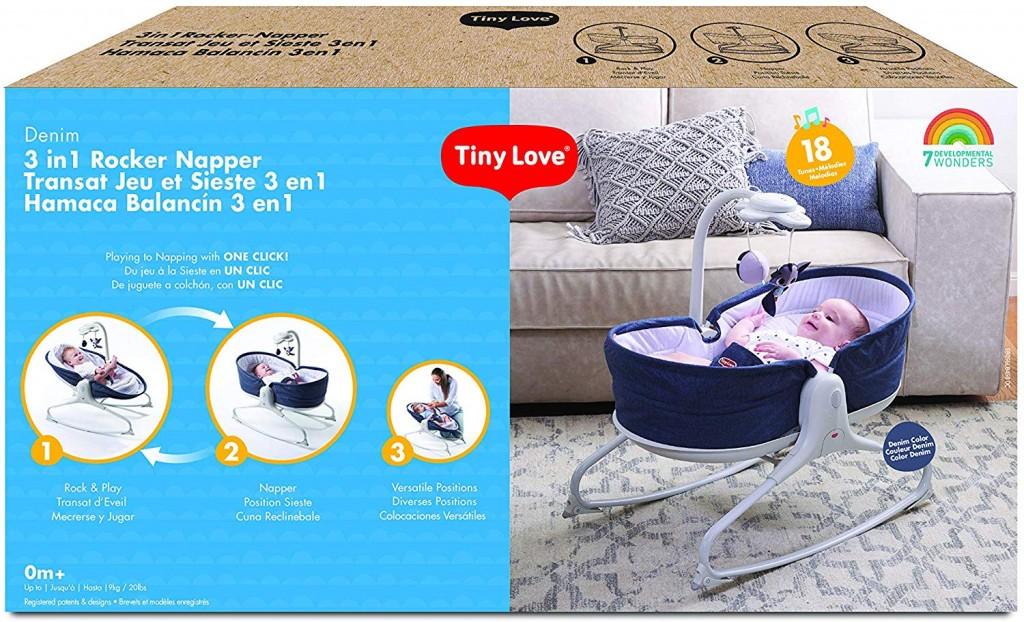 Tiny Love 3 In 1 Rocker Napper Denim Packaging