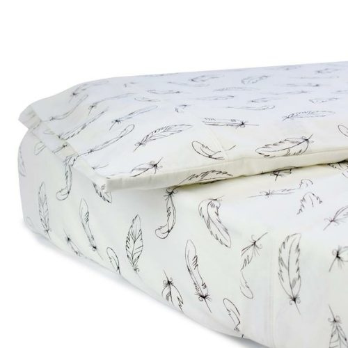 Bubba Blue Organic Cotton Feathers 3 Piece Cot Sheet Set