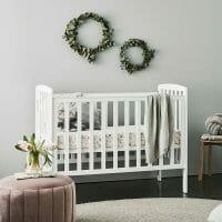 Childcare Bristol Cot White Lifestyle