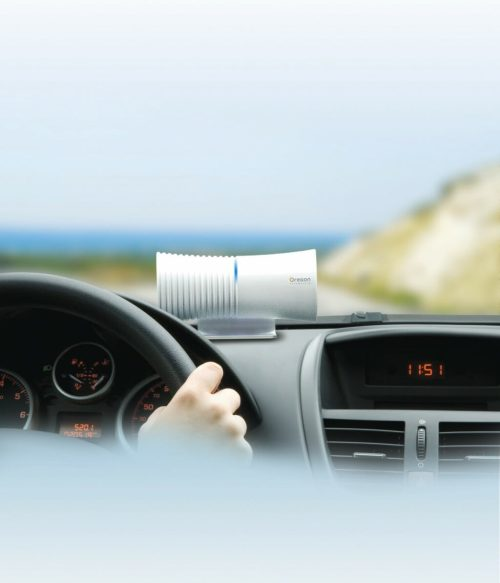 Oregon Scientific Ws908 Compact Air Sanitizer White In The Car Lifestyle
